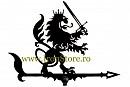 Girueta ornamentala Leu cu sabie cod GR04, tabla 3mm